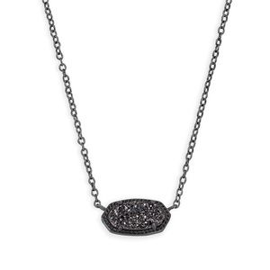 Kendra Scott / Elisa Gunmetal Pendant Necklace
